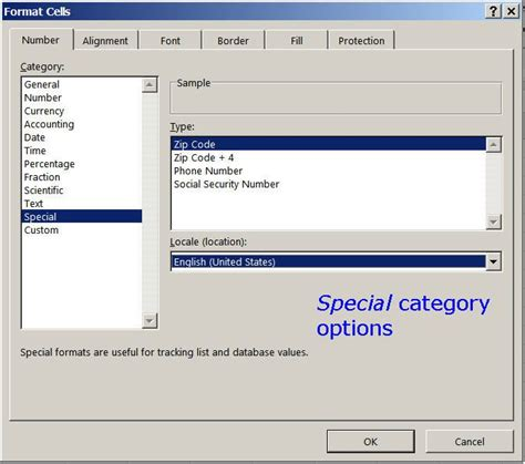 excel 2007 format phone number formatting negative long and special numbers in excel