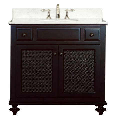 36 In Bathroom Vanity With Top Water Creation 36 In Vanity In Espresso With Marble Vanity Top In Carrara White