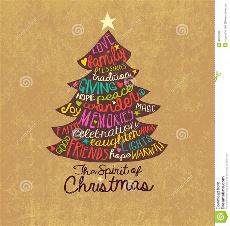 Handmade Word - card word cloud tree design stock vector image