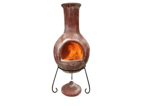 retro chiminea shabby chic rustic clay chimenea patio heater clay
