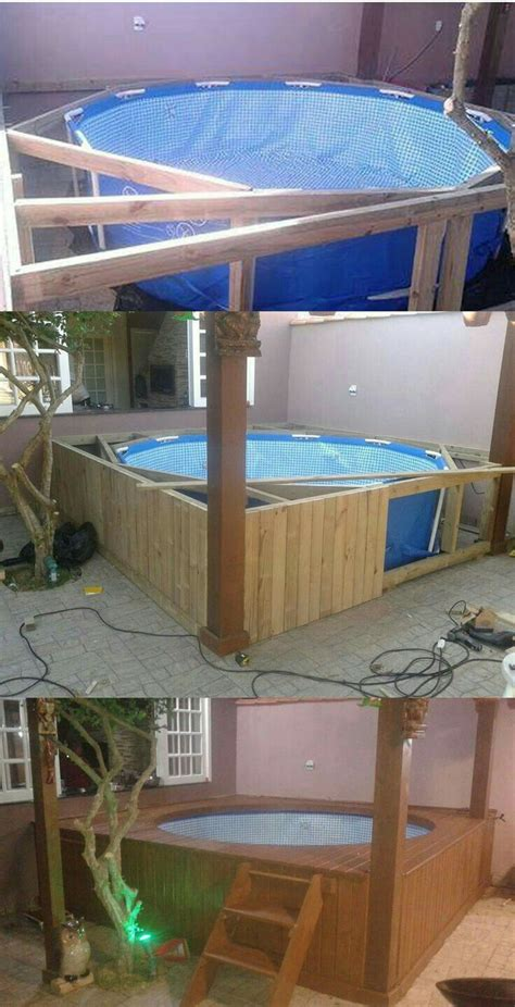diy deck   pool diy house projects