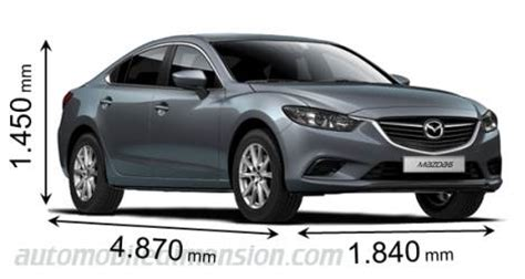2014 mazda 6 dimensions dimensions of mazda cars showing length width and height