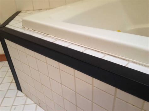 bathtub edging tiled tub deck cover for edges corners the home depot