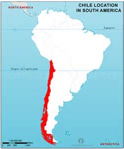 map of chile south america chile location map in south america chile location in
