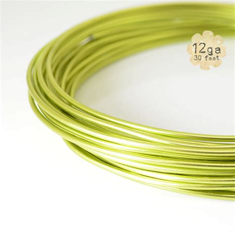 aluminum floral wire 30ft 12ga aluminum craft wire 12 9 2m by plumulefeathers