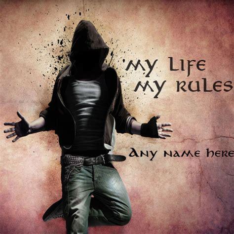 write    life  rules attitude boy whatsapp profile pics
