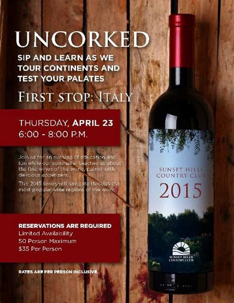 wine flyer template uncorked series wine tour around the world flyer