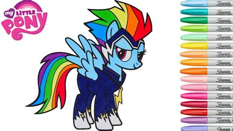 my little pony rainbow power coloring pages my little pony coloring book rainbow dash power ponies go
