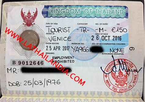 consolato thailandese genova nuovo visto turistico multi entrate per la thailandia