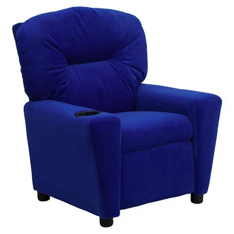 microfiber recliner chair microfiber kids recliner chair cup holder blue dcg stores
