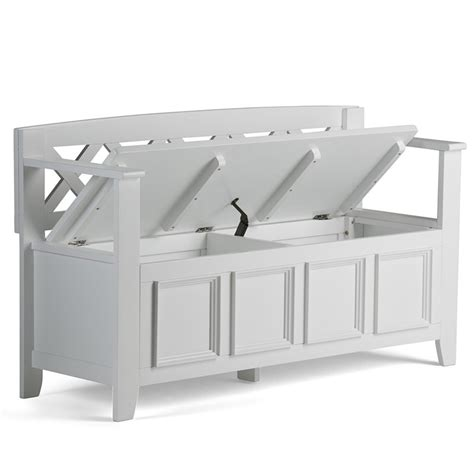 hallway storage bench white entryway storage bench in white axcab bnch w