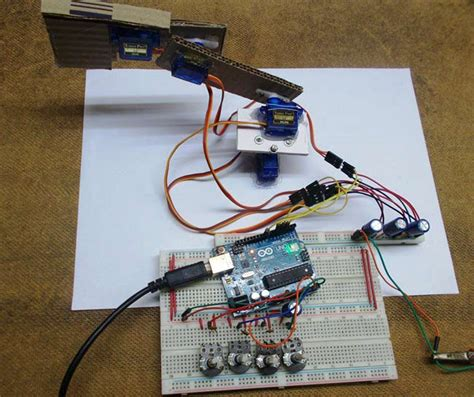 diy circuit projects diy arduino robotic arm project with circuit diagram code