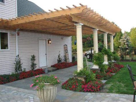 diy pergola attached to house plans designs simple attached pergola construction pergoladiy