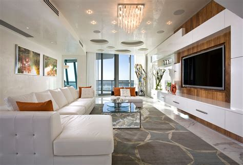 living room miami pfuner design oceanfront penthouse contemporary