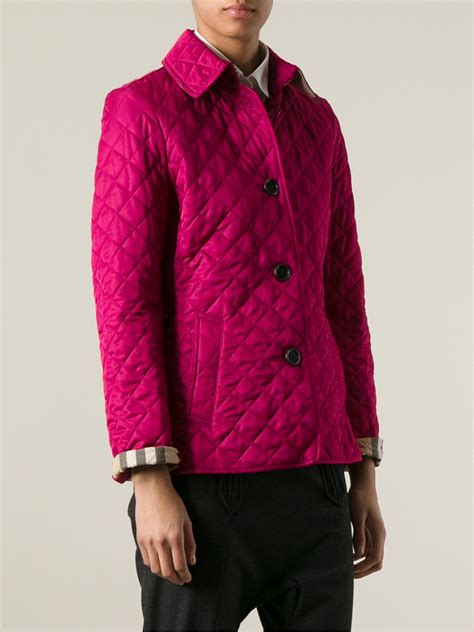 Hodie Parka Pink Ik 1 lyst burberry brit quilted jacket in pink