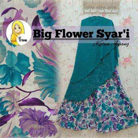 Gamis Flower Syari Tosca gamis big flower syari a146 baju muslim katun xl