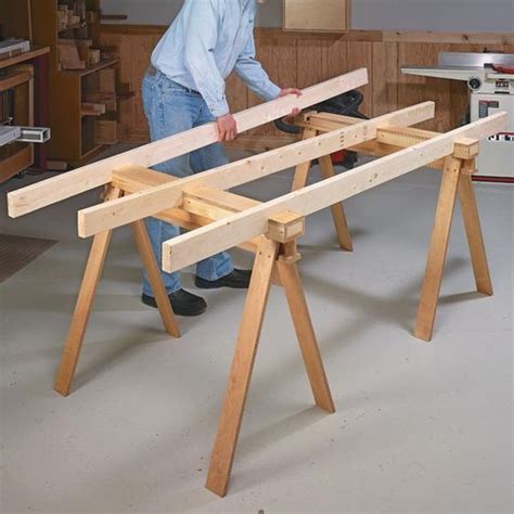 knock down shooting bench plans knock down shop table woodsmith tips workshop ideas