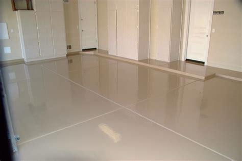 Tan Epoxy Garage Floor