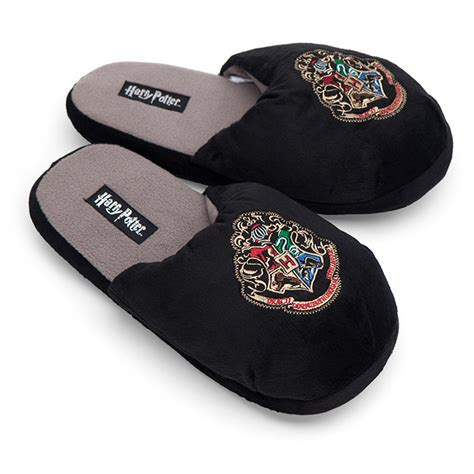 where house shoes harry potter hogwarts slippers thinkgeek