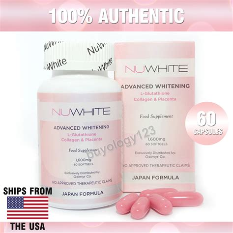 Collagen Bleaching Whitening by Nuwhite Whitening L Glutathione Collagen Lightening Anti