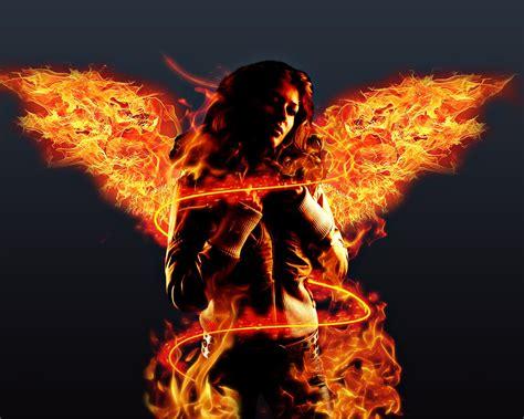 fire angel wallpaper  wallpaperesque