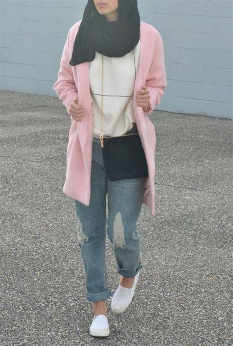 wear boyfriend jeans  hijab  trendy girls