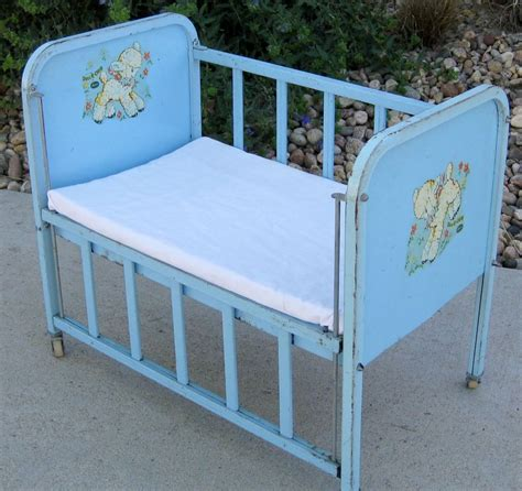 Crib Side Rail by Blue Metal Vintage 1950 S Amsco Quot Doll E Crib Quot Bed
