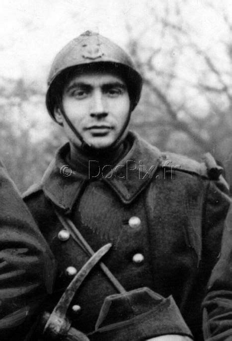 Le sous officier sergent François Mitterrand mobilisé sur