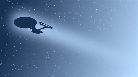 minimalist space star trek uss enterprise spaceship minimalism space