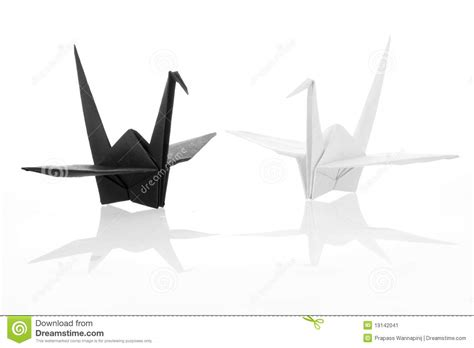 Black And White Origami Paper - black and white traditional japanese origami crane stock