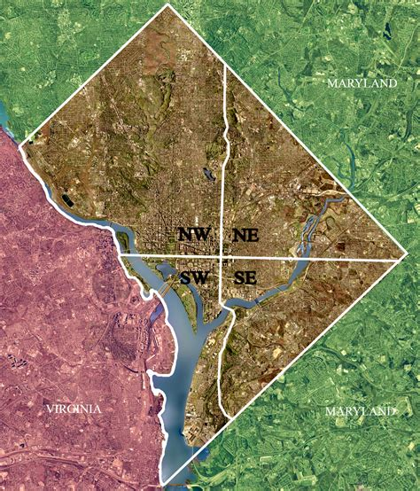 washington dc map nw ne sw se the four quadrants of dc new to dc tips tricks for