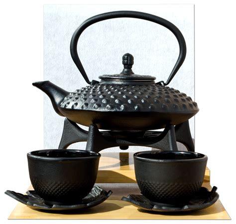 Star Trivet Leaf Cups & Tetsubin Japanese style Cast Iron