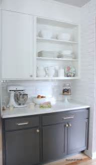 ideas white upper lower cabinets grey cabinets upper cabinets white subway tile subway