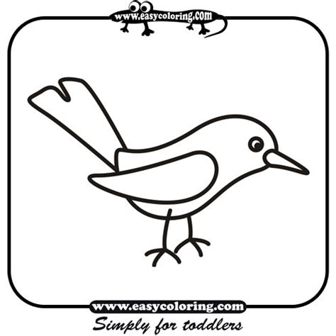 easy bird coloring page bird simple coloring animals easy coloring animals for