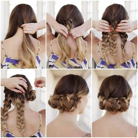 instructions on how to do a curly dressy chin lenght hairstyle bun hairstyles for your wedding day with detailed steps