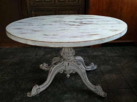 Anitque White Shabby Chic Round Dining Table Antique White Shabby Chic Dining Table