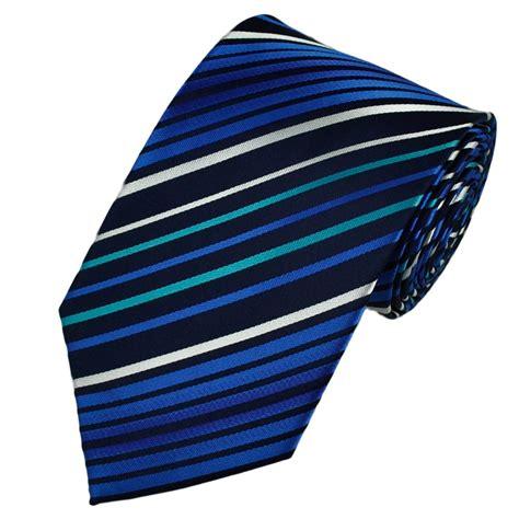 navy blue aqua white striped tie from ties