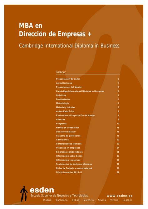 Master Mba by Master Mba En Direcci 243 N De Empresas