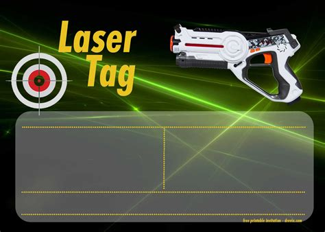 Free Printable Laser Tag Invitation Templates Drevio Invitations Design Free Printable Laser Tag Invitation Template