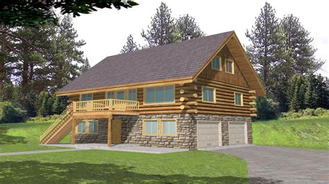 Cabin Plans With Garage by Log Cabin Floor Plans Log Cabin Home Floor Plans With