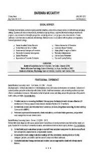 social work resume templates entry level free resume