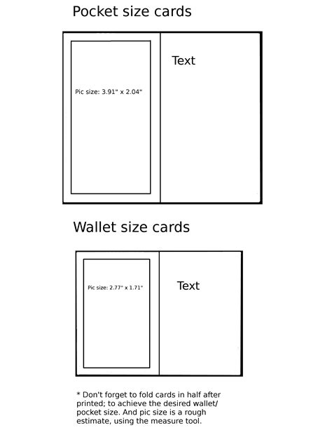 free pocket card template pin wallet card template on