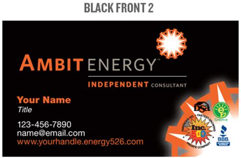 mpower team ambit energy business cards