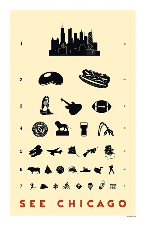 printable eye chart gift 78 best chicago themed gift ideas images on pinterest