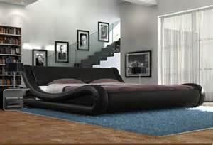 Black Leather King Size Bed With Mattress Galaxy King Size Black Faux Leather Bed Frame Designer