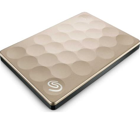 Seagate Backup Plus Slim 2tb Gold Harddisk Eksternal Free Pouch U281 seagate backup plus ultra slim portable drive 2 tb gold deals pc world