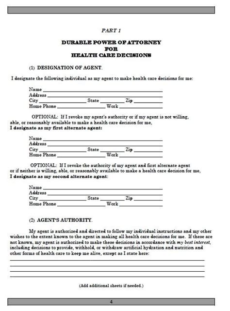 printable estate planning forms printable sle power of attorney template form real