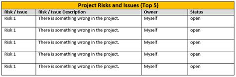 issue reporting template one page project status report template a weekly status
