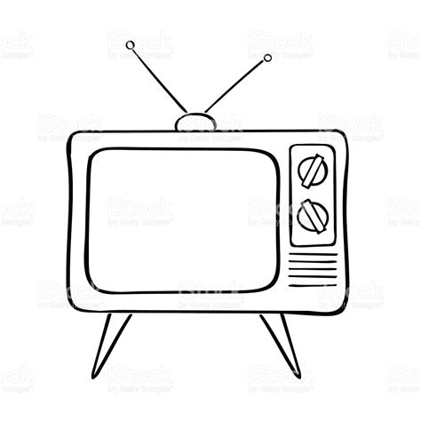 tv clipart menonton pencil and in color tv clipart menonton tv clipart hand drawn pencil and in color tv clipart