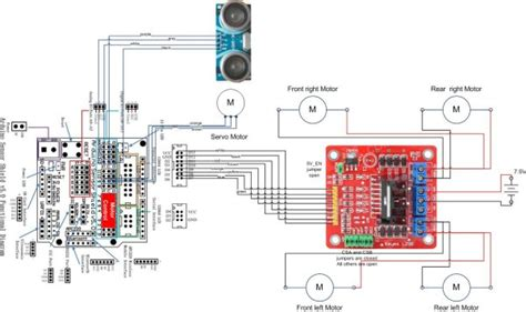 arduino robot kit wiring diagram  arduino  projects